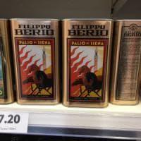 Nei supermercati inglesi c'è l'olio Palio di Siena: