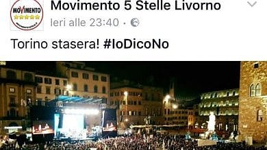 """Gaffe dei 5 Stelle di Livorno su Facebook:  """"Torino stasera"""", ma in foto piazza Signoria"""