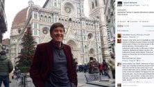 "Gianni Morandi, foto da Firenze: ""Splendida atmosfera natalizia"""