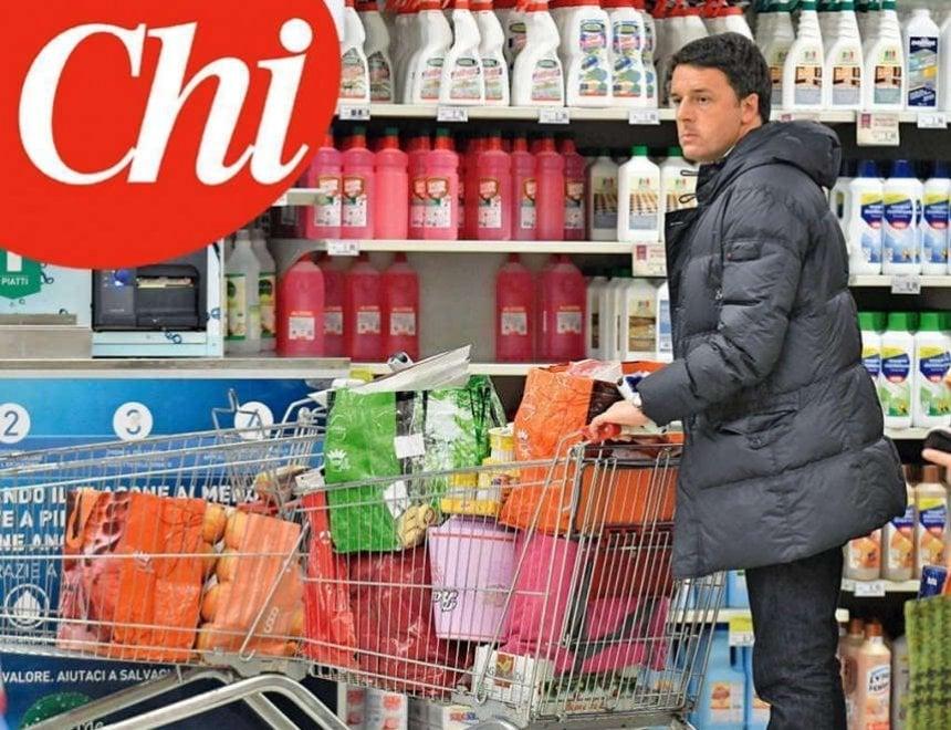Pontassieve, l'ex premier Renzi fa la spesa al supermercato