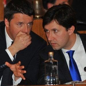 """Fienze, Renzi a Palazzo Vecchio con Nardella: """"Sono nell'ufficio più bello del mondo"""""""