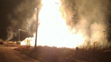 Rogo a stazione del gas nel Grossetano  fiamme visibili da 30 chilometri di distanza