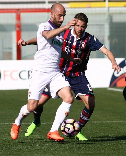 Crotone-Fiorentina, le immagini del primo tempo