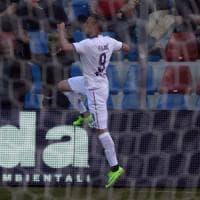 Crotone-Fiorentina 0-1, Zampata di Kalinic in zona Cesarini, ed è vittoria