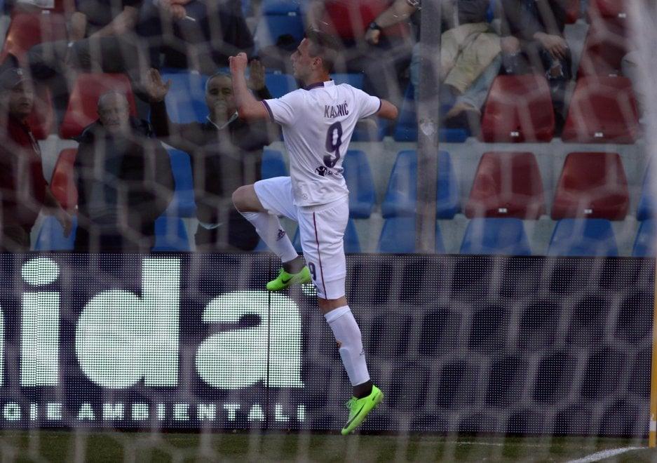 Crotone-Fiorentina 0-1, il gol di Kalinic
