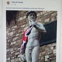 Firenze, il Comune posta su Facebook la foto del David con la bandiera inglese,