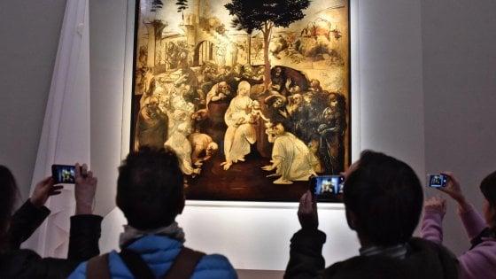 Firenze, l'Adorazione dei Magi restaurata debutta agli Uffizi