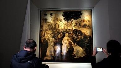 Firenze, l'Adorazione dei Magi restaurata  debutta alla Galleria degli Uffizi -   ft -     video
