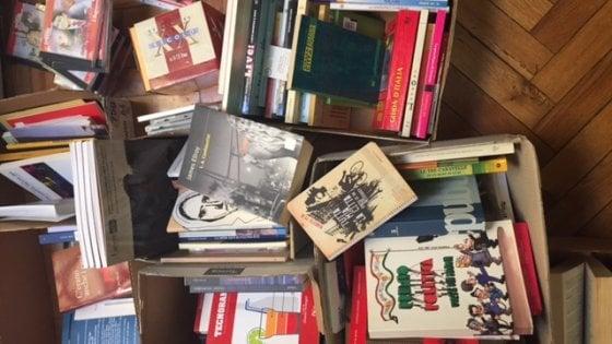 Libri usati gratis per i lettori che vengono a sceglierli in redazione