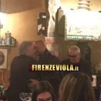 Firenze, Corvino e Spalletti saluto al ristorante
