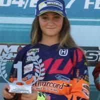 Motocross, a 13 è già una campionessa: Elisa Galvagno vince tra gli under 17