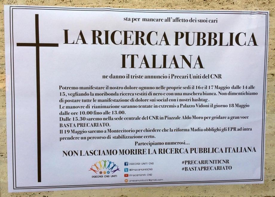 Pisa, i precari del Cnr contro il decreto Madia