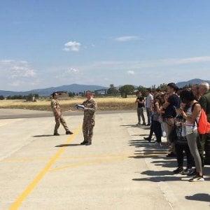 Obama e la moglie Michelle sono atterrati a Grosseto