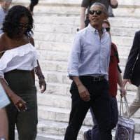 Buonconvento saluta Barack e Michelle, è finita la vacanza in Toscana