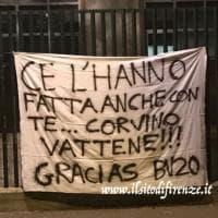"Fiorentina, striscione per Borja dai tifosi: ""Corvino vattene"""