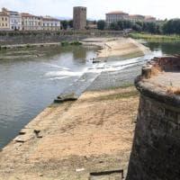 Firenze: pescaie in secca, anche l'Arno soffre la siccità