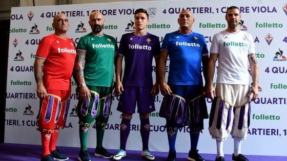 Fiorentina, le nuove maglie celebrano il Calcio storico