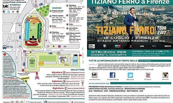 Firenze, arriva Tiziano Ferro, in 40 mila allo stadio: tutto quello che c'è da sapere per partecipare