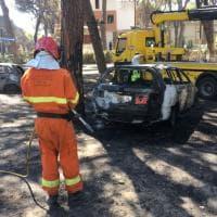 Marina di Grosseto, bruciate auto e pinete
