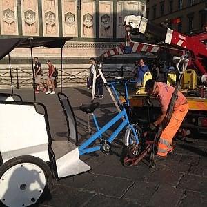 Firenze, i vigili sequestrano un altro risciò