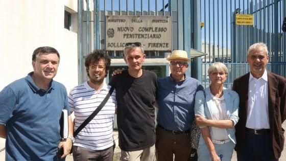 Paolo Hendel visita Sollicciano: