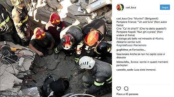 Terremoto Ischia, lo scambio di battute (con traduzione) tra il piccolo Ciro e il pompiere fiorentino