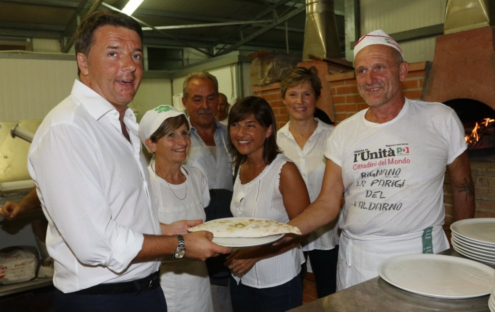 Rignano, Renzi va a cena alla festa dell'Unità e c'è anche Tiziano