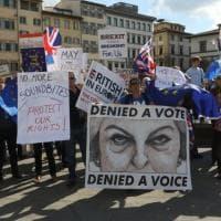 Firenze, in cento in piazza contro la Brexit: