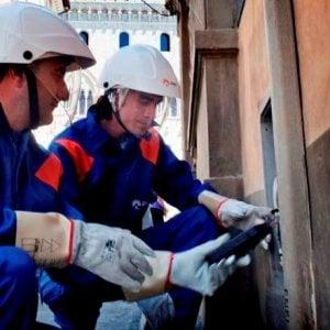Firenze, lavori dell'Enel per un nuovo tratto di linea elettrica interrata