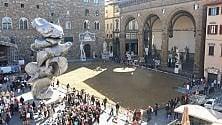 Film su Michelangelo in piazza della Signoria