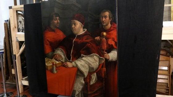 Uffizi, al via il restauro del Leone X di Raffaello
