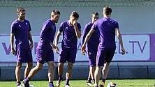 Fiorentina, l'allenamento visto da vicino