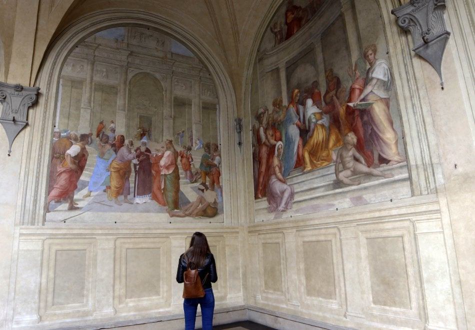 Firenze, tornano alla luce gli affreschi del Chiostrino dei Voti alla Santissima Annunziata