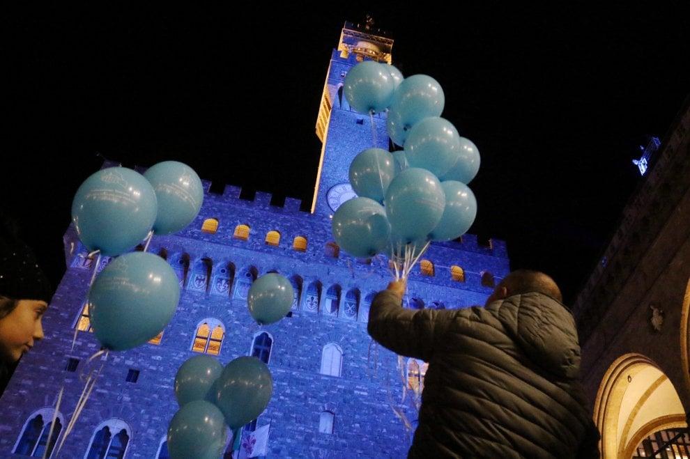 Palazzo Vecchio diventa blu, per la giornata del diabete