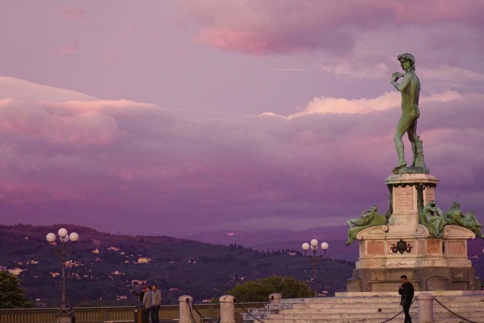 I colori del tramonto su Firenze