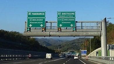A1, Panoramica chiusa fino a Roncobilaccio