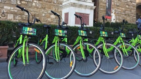 Firenze, in città debutta il nuovo bike sharing con 400 bici
