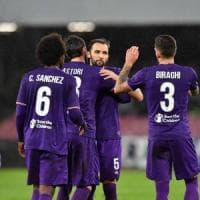 Il muro della Fiorentina in difesa, un punto a Napoli