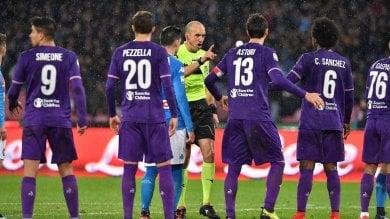 Il muro della Fiorentina in difesa, un punto a Napoli. Finisce 0-0 -   foto