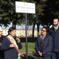 Firenze, la terrazza sull'Arno dedicata a Riccardo Marasco