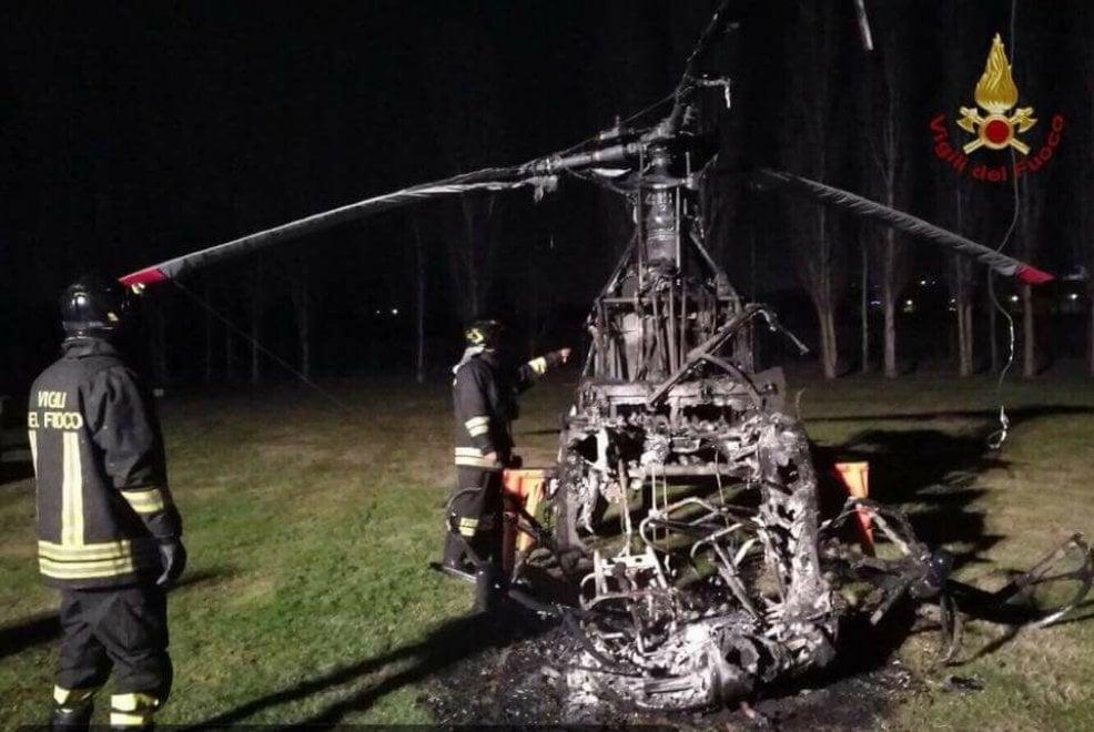 San Miniato, incendiano l'elicottero di un imprenditore