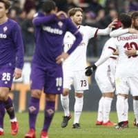 Fiorentina, solo un pareggio con il Milan: la classifica non si muove