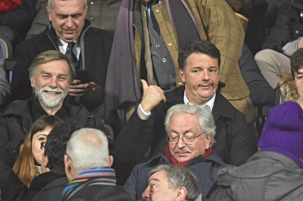 Fiorentina-Inter, Renzi e Delrio allo stadio