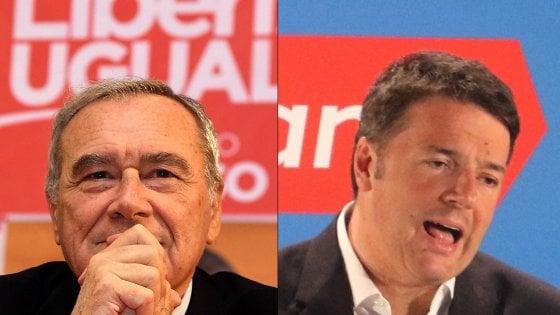 """Renzi-Grasso, match a distanza in Toscana. Il leader di LeU: """"Pd perde perché non è più di sinistra"""""""
