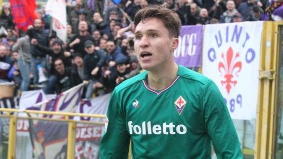 """Un """"lampo"""" di Chiesa e la Fiorentina torna a vincere"""