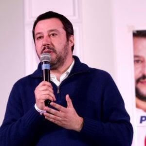 """Salvini a Firenze: """"L'anagrafe antifascista di Stazzema? C'è quella canina"""""""