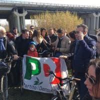 Firenze, Renzi in bicicletta:
