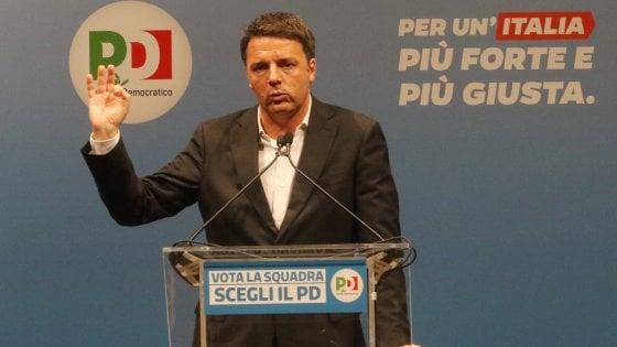 Verso le elezioni, Matteo Renzi: