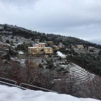 Maltempo in Toscana, nevica all'isola d'Elba