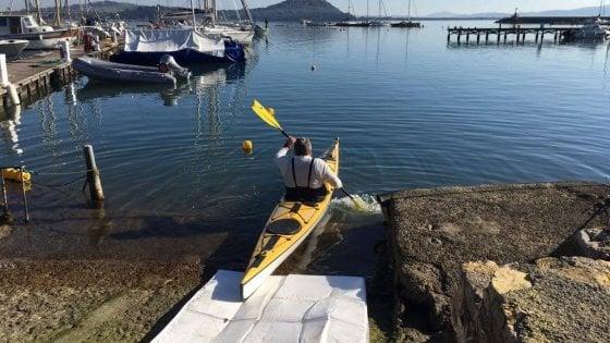 Dalla Toscana alla Sicilia in kayak a 61 anni